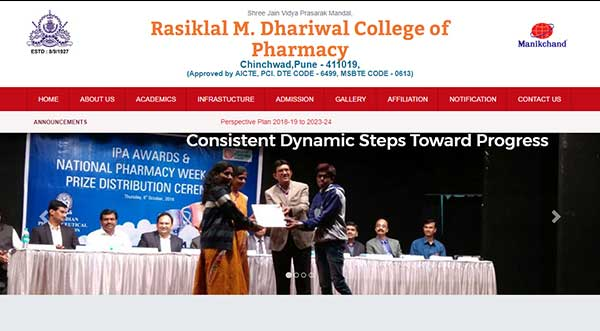 Rasiklal M. Dhariwal College of Pharmacy